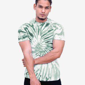 Green Tie Dye T Shirt